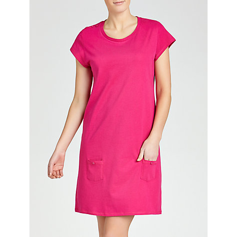 Buy John Lewis Jersey Nightdress, Pink Online at johnlewis.com