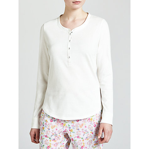Buy John Lewis Long Sleeve Lounge Top, Ivory Online at johnlewis.com