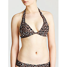 Buy John Lewis Leopard Bikini Top, Animal Online at johnlewis.com