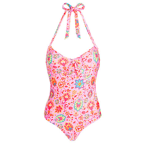 Buy John Lewis Paisley Halter Swimsuit, Multi Online at johnlewis.com