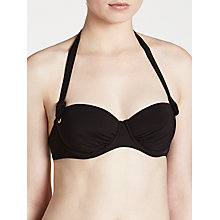 Buy John Lewis Eyelet Underwired Bikini Top, Black Online at johnlewis.com
