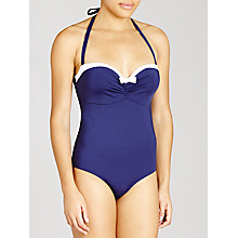 Buy John Lewis Sailor Underwired Control Swimsuit, Blue / White Online at johnlewis.com