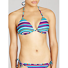 Buy John Lewis Hawaii Striped Padded Bikini Top, Multi Online at johnlewis.com