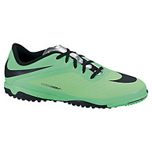 Buy Nike Junior Hypervenom Football Boots, Lime/Black Online at johnlewis.com