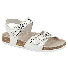 Buy John Lewis Girl Ora Cut Out Detail Sandals, White Online at johnlewis.com