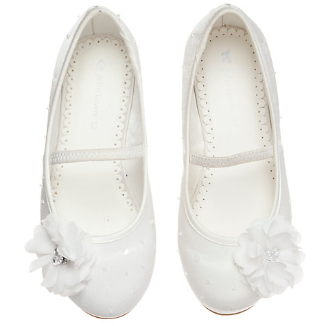 Buy John Lewis Diamante Mary Jane Bridesmaid Shoes, Ivory Online at johnlewis.com