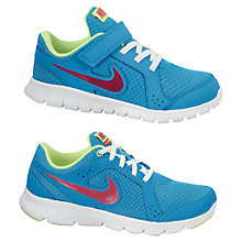 Buy Nike Flex Experience Trainers, Blue/Pink Online at johnlewis.com