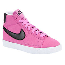 Buy Nike Children's Blazer Mid Vintage Trainers, Pink/Black Online at johnlewis.com