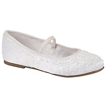Buy John Lewis Floral Sequin Shoes, White Online at johnlewis.com
