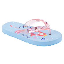 Buy John Lewis Girl Mermaid Flip Flops, Blue/Pink Online at johnlewis.com