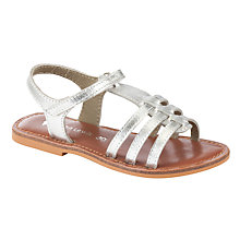 Buy John Lewis Girl Oriana Metallic Sandals, Silver Tan Online at johnlewis.com