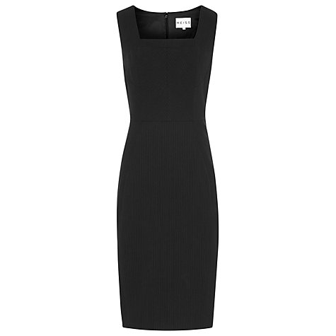 Buy Reiss Garbo Tailored Pinstripe Dress, Black Online at johnlewis.com