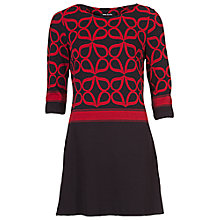 Buy Betty Barclay Jersey Dress, Black/Red Online at johnlewis.com
