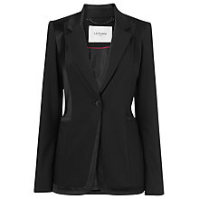 Buy L.K. Bennett Melba Contrast Fabric Fitted Jacket, Black Online at johnlewis.com