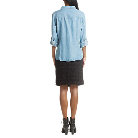 Buy Jigsaw Sparkle Check Pencil Skirt, Black Online at johnlewis.com