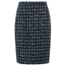 Buy Jigsaw Blueberry Tweed Pencil Skirt, Purple Online at johnlewis.com
