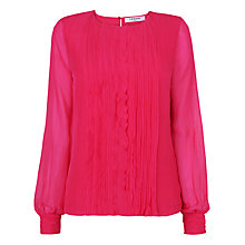Buy L.K. Bennett Azara Frill Front Top Online at johnlewis.com