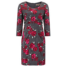 Buy Jigsaw Rose Ruched Dress, Cerise Online at johnlewis.com