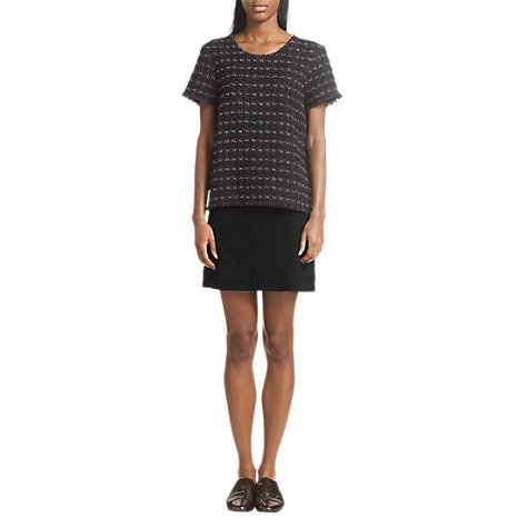 Buy Jigsaw Suede Mini Skirt, Black Online at johnlewis.com