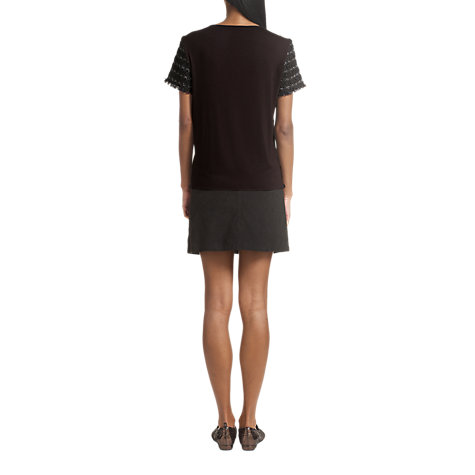 Buy Jigsaw Tweed Silk Back T-Shirt Online at johnlewis.com