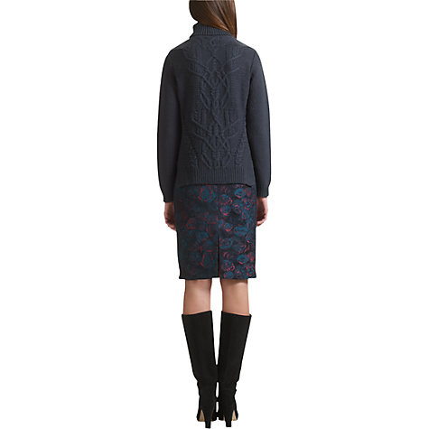 Buy Jigsaw Jewel Rose Skirt, Peacock Blue Online at johnlewis.com