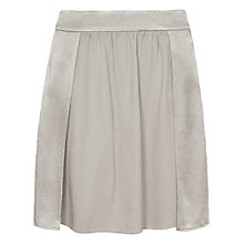 Buy Reiss Niko Relaxed Overlay Skirt, Oyster Online at johnlewis.com
