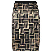 Buy Reiss Penelope Silk Front Pencil Skirt, Black Online at johnlewis.com