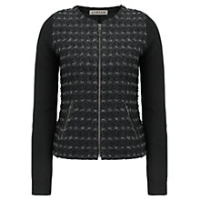 Buy Jigsaw Linton Tweed Front Zip Cardigan Online at johnlewis.com