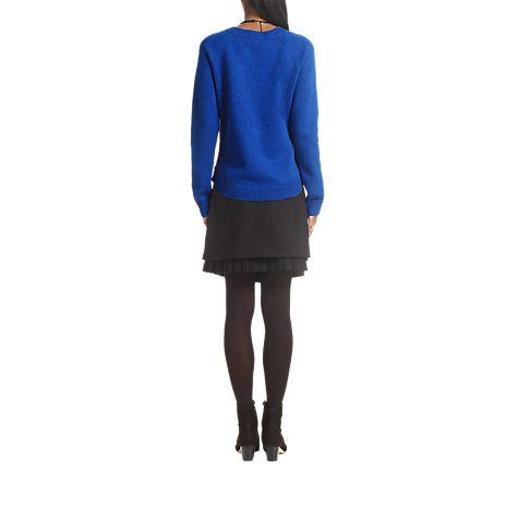 Buy Jigsaw Linton Tweed Front Jumper Online at johnlewis.com