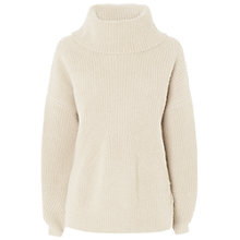 Buy Jaeger Ribbed Chunky Jumper, Ivory Online at johnlewis.com