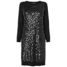 Buy Jaeger Sequin and Lurex Knitted Dress, Black Online at johnlewis.com