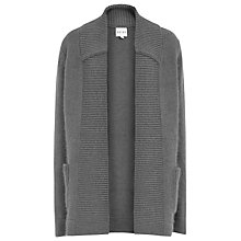 Buy Reiss Fontaine Fluffy Longline Cardigan, Grey Online at johnlewis.com