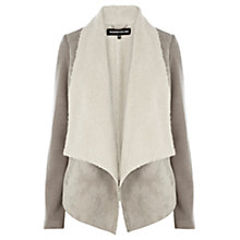 Buy Warehouse Bonded Faux Fur Jacket, Dark Grey Online at johnlewis.com