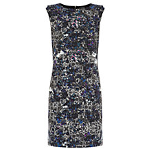 Buy Warehouse Lace Extended Shoulder Shift Dress, Multi Online at johnlewis.com