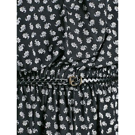 Buy Mango Autumn Pattern Dress, Black Online at johnlewis.com