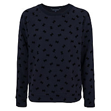 Buy French Connection Snow Bow Crew Neck Jumper, Utility Blue Online at johnlewis.com