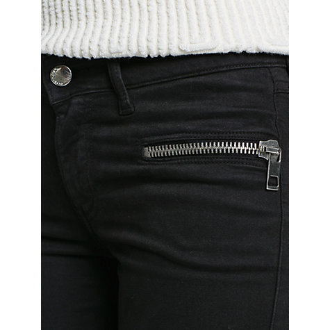 Buy Mango Super Slim Zip Jeans, Black Online at johnlewis.com