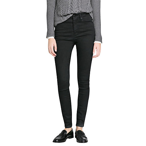 Buy Mango Ultra Skinny Jeans, Black Online at johnlewis.com