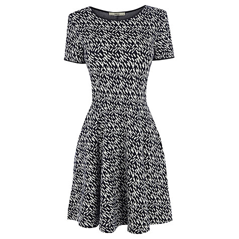 Buy Oasis Brushstroke Dress, Blue Online at johnlewis.com