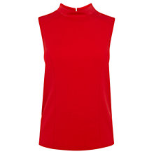 Buy Oasis High Neck Ponte Top, Rich Red Online at johnlewis.com