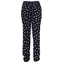 Buy French Connection Snow Bow Tie Waist Printed Trousers, Utility Blue Online at johnlewis.com