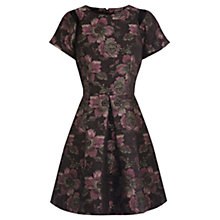 Buy Warehouse Jacquard Floral Dress, Multi Online at johnlewis.com