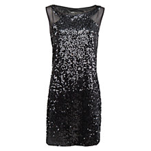 Buy Mango Contrast Panel Sequin Dress, Black Online at johnlewis.com