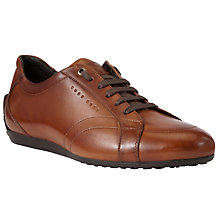 Buy BOSS Promis Leather Trainers, Tan Online at johnlewis.com