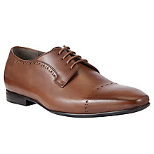 Buy BOSS Bondion Leather Derby Shoes, Tan Online at johnlewis.com