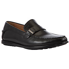 Buy BOSS Dunnio Leather Loafers, Black Online at johnlewis.com