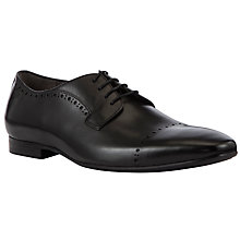 Buy BOSS Bondion Leather Derby Shoes, Black Online at johnlewis.com