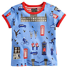 Buy Baby Joule London Print T-Shirt, Blue Online at johnlewis.com