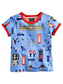 Baby Joule London Print T-Shirt, Blue