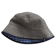 Buy Little Joule Brit Reversible Bucket Hat, Grey Online at johnlewis.com